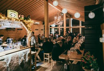 Järjestä tilaisuutesi Tahkon huipulla - Panorama Bar